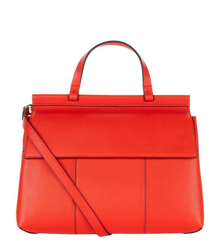 Tory Burch Leathers Block T Satchel Bag