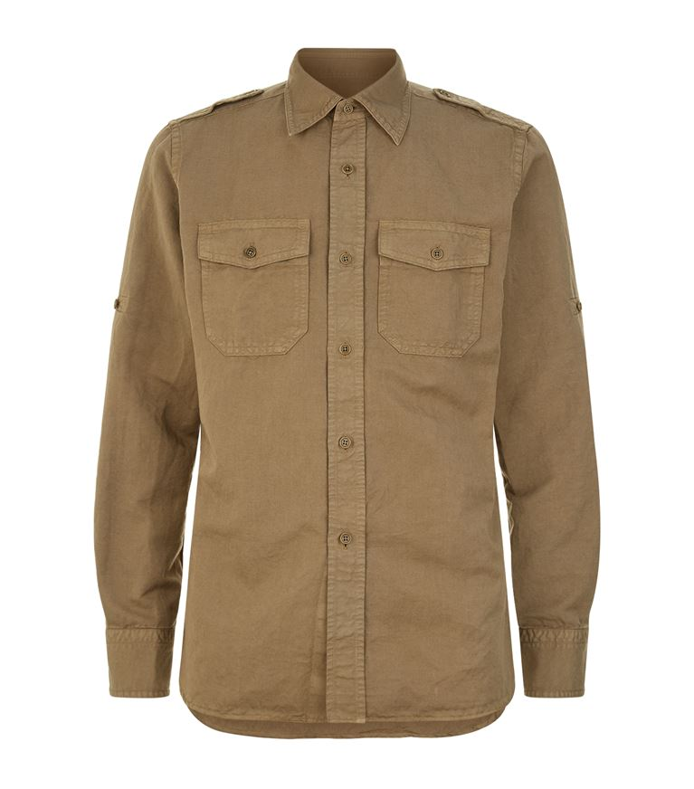 Tom Ford Cottons Chest Pocket Casual Shirt