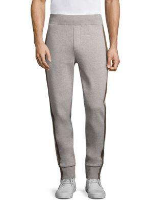 Moncler Cottons Zip Cuff Cotton Jogger Pants