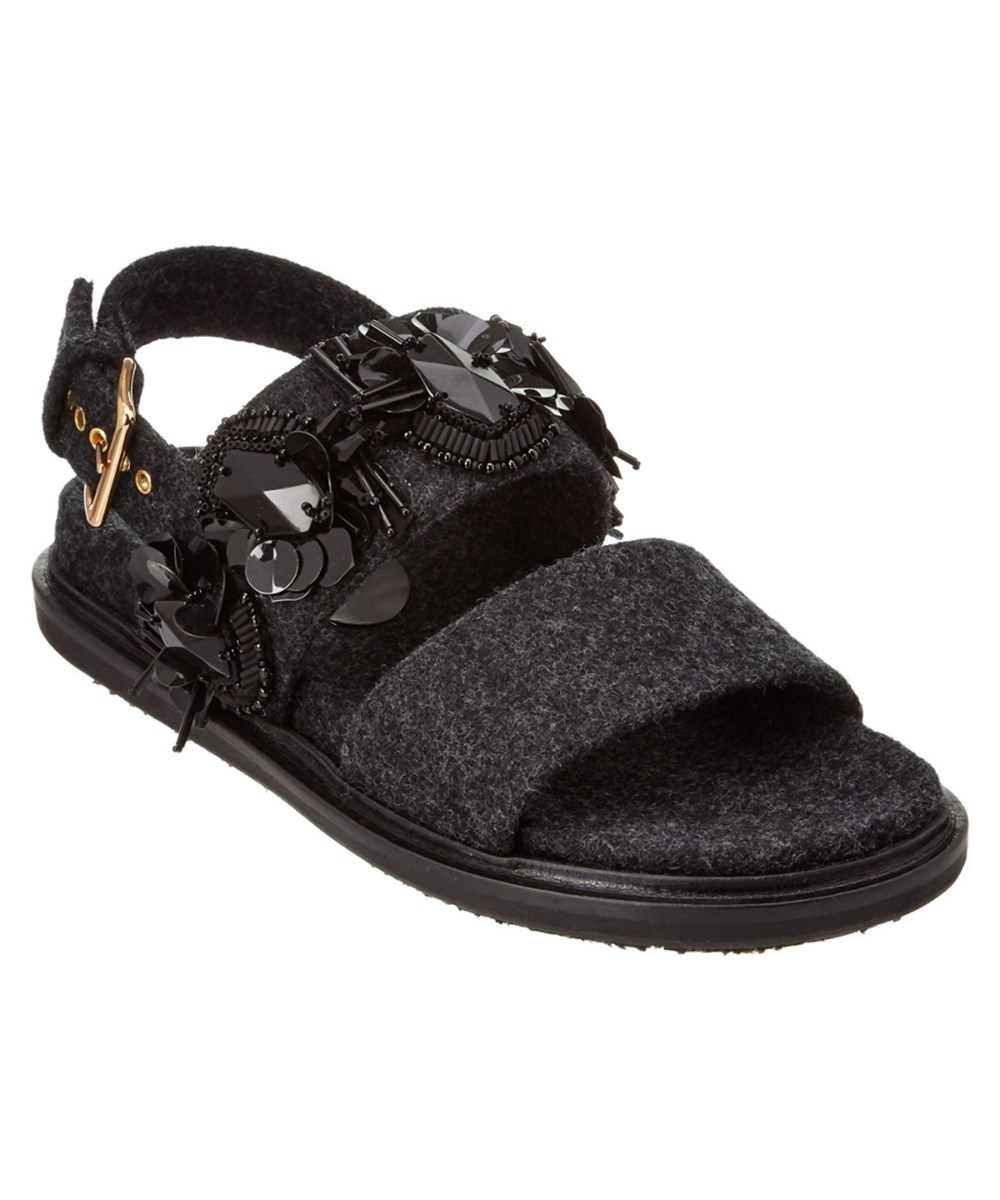 Marni Sandals MARNI HEAVY FELT FUSSBETT SANDAL