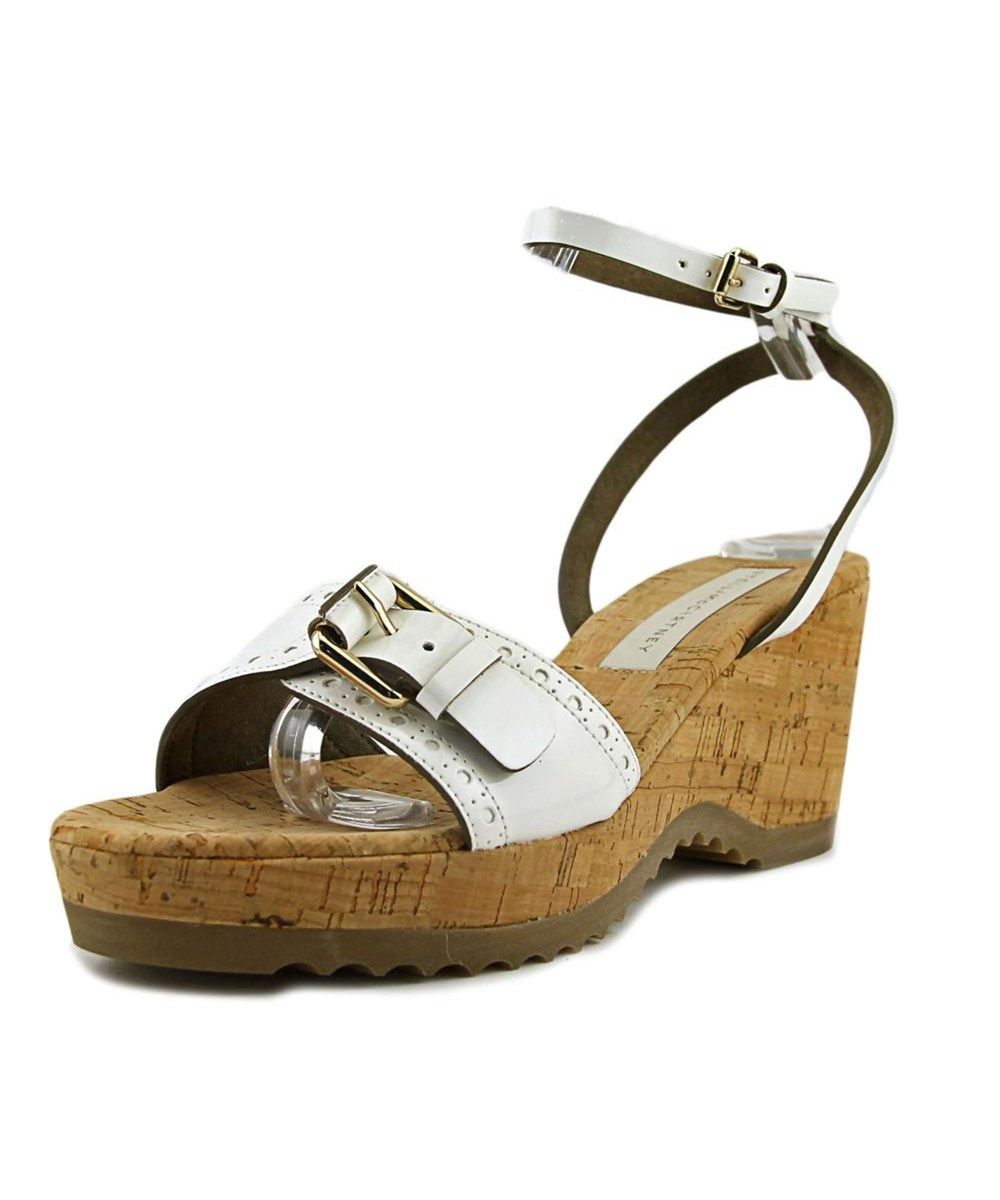 Stella Mccartney Leathers Stella Mccartney Lorien   Open Toe Leather  Wedge Sandal