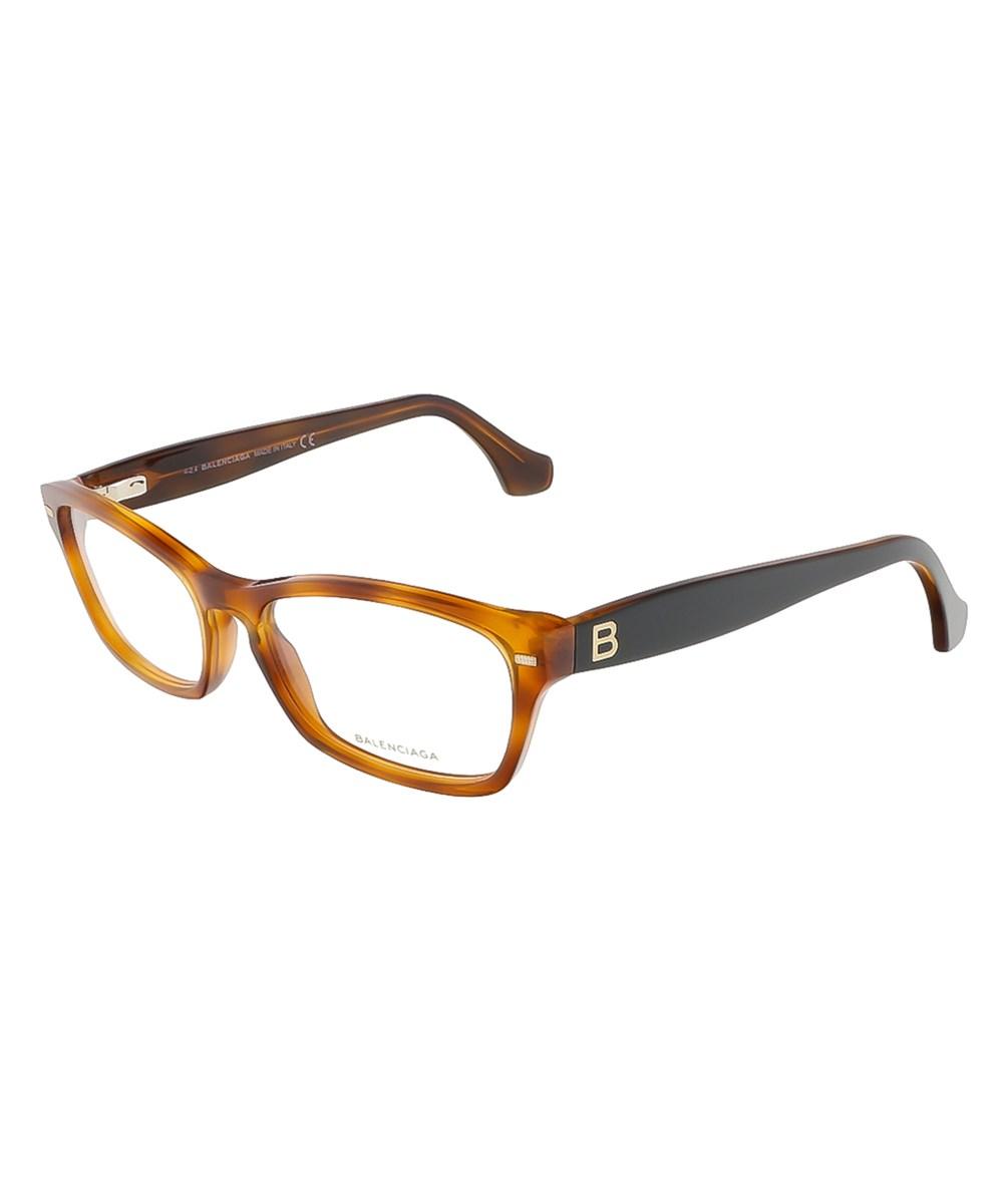 Balenciaga Accessories BA5012/V 053 CARAMEL HAVANA/BLACK RECTANGULAR OPTICALS
