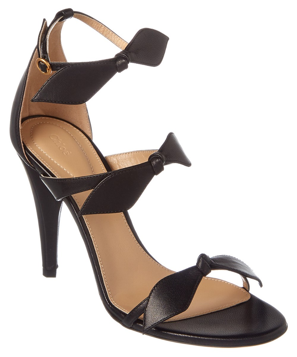 Chloé Leathers CHLOE MIKE LEATHER BOW STRAP SANDAL'