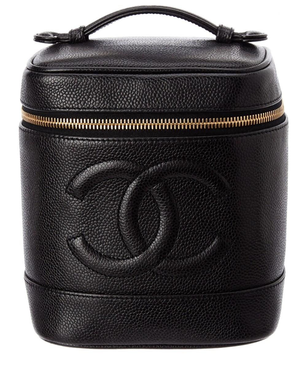 Chanel Cosmetics cases CHANEL BLACK CAVIAR LEATHER CC VANITY CASE'