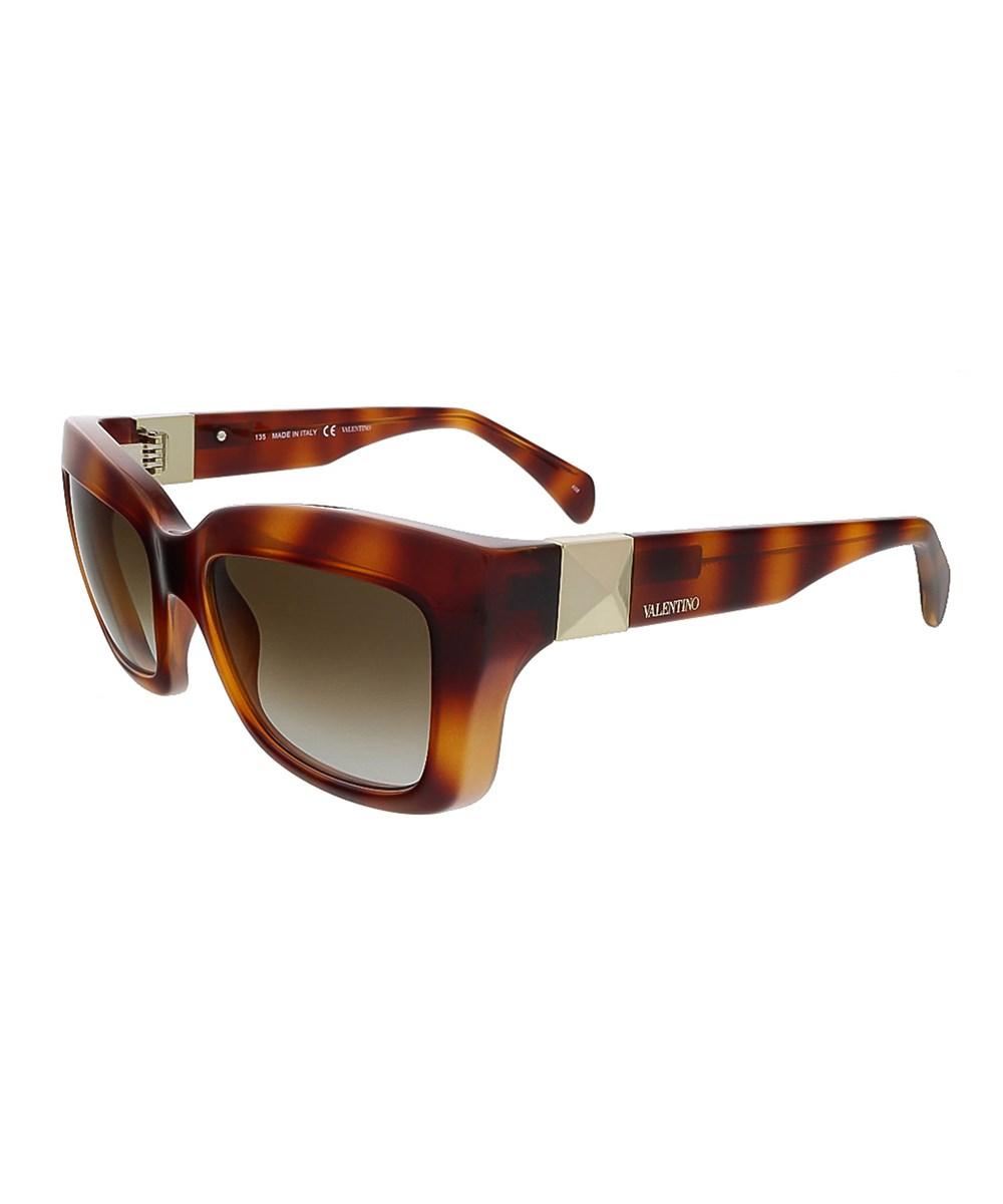 Valentino Sunglasses V692S 725 BLOND HAVANA RECTANGULAR SUNGLASSES