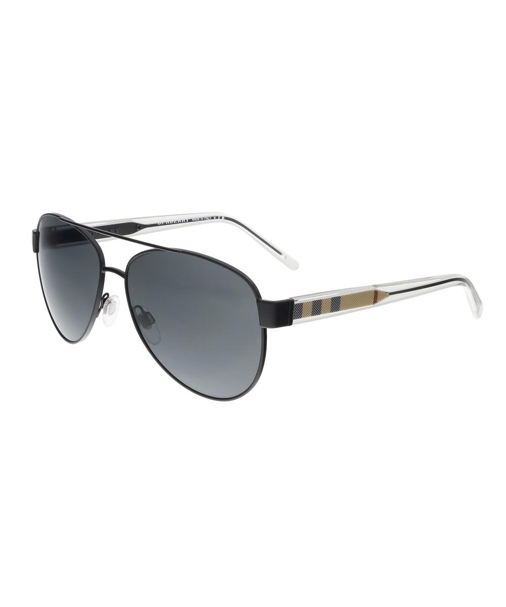 Burberry Sunglasses BE3084 100787 BLACK AVIATOR SUNGLASSES'