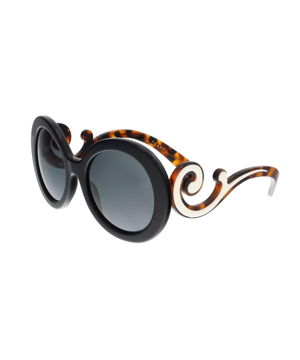 Prada Sunglasses PR 08TS¿1AB1A1 ROUND BLACK SUNGLASSES