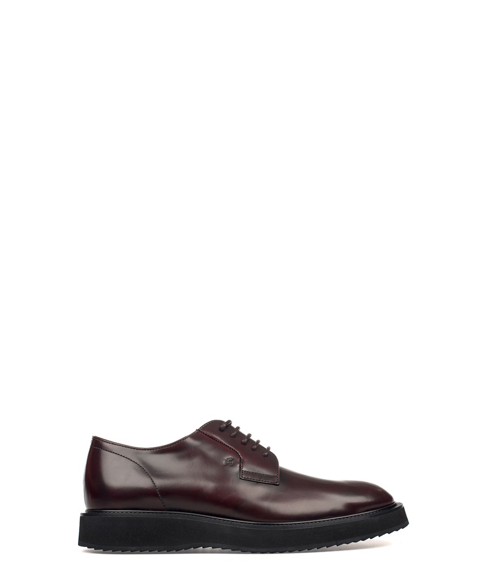 Hogan Leathers HOGAN MEN'S  RED LEATHER LACE-UP SHOES