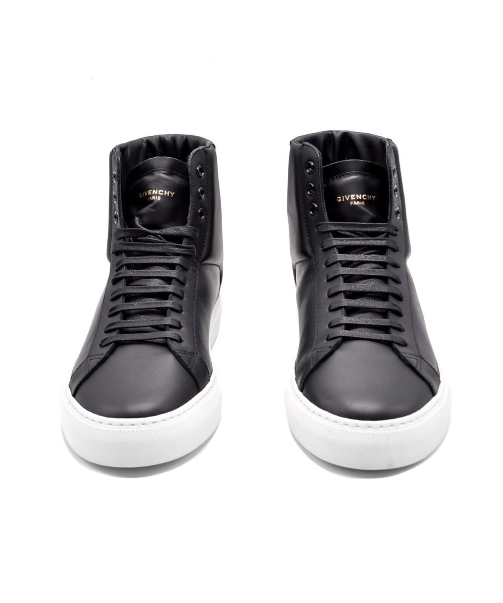 Givenchy Leathers Mens Givenchy Black Classic Urban Street Hi-Top Sneakers