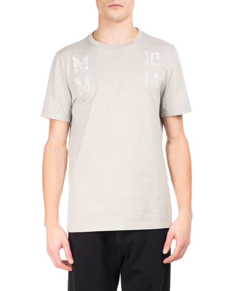 Maison Margiela Cottons MM 10 14 LOGO T-SHIRT, STONE GRAY