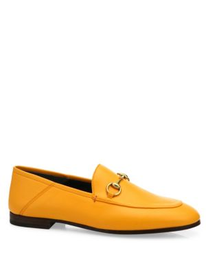 BRIXTON LEATHER HORSEBIT LOAFER, YELLOW