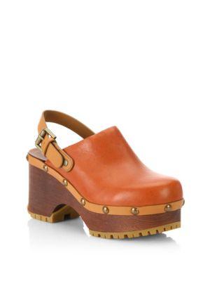 Tasha Leather Clogs