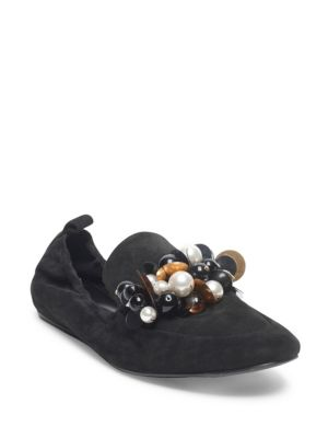 PEARL EMBELLISHED LOAFERS