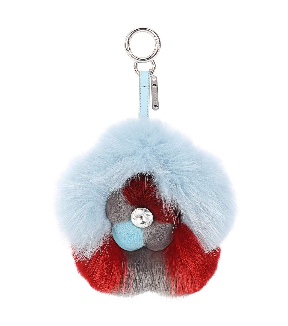 Fendi Keychains Fur bag charm