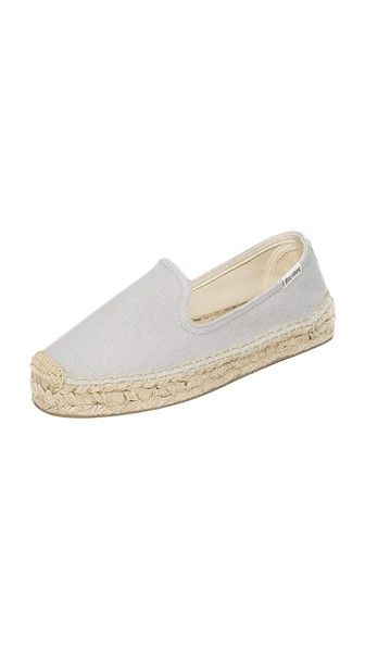 Soludos Canvases CANVAS PLATFORM SMOKING SLIPPERS