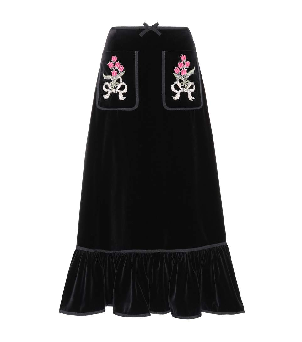 Gucci Cottons Embellished cotton skirt