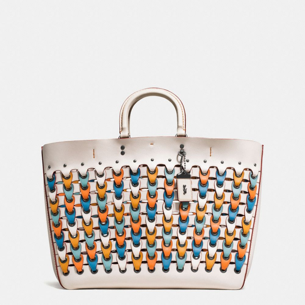Coach Leathers COACH ROGUE TOTE WITH COLORBLOCK LINK