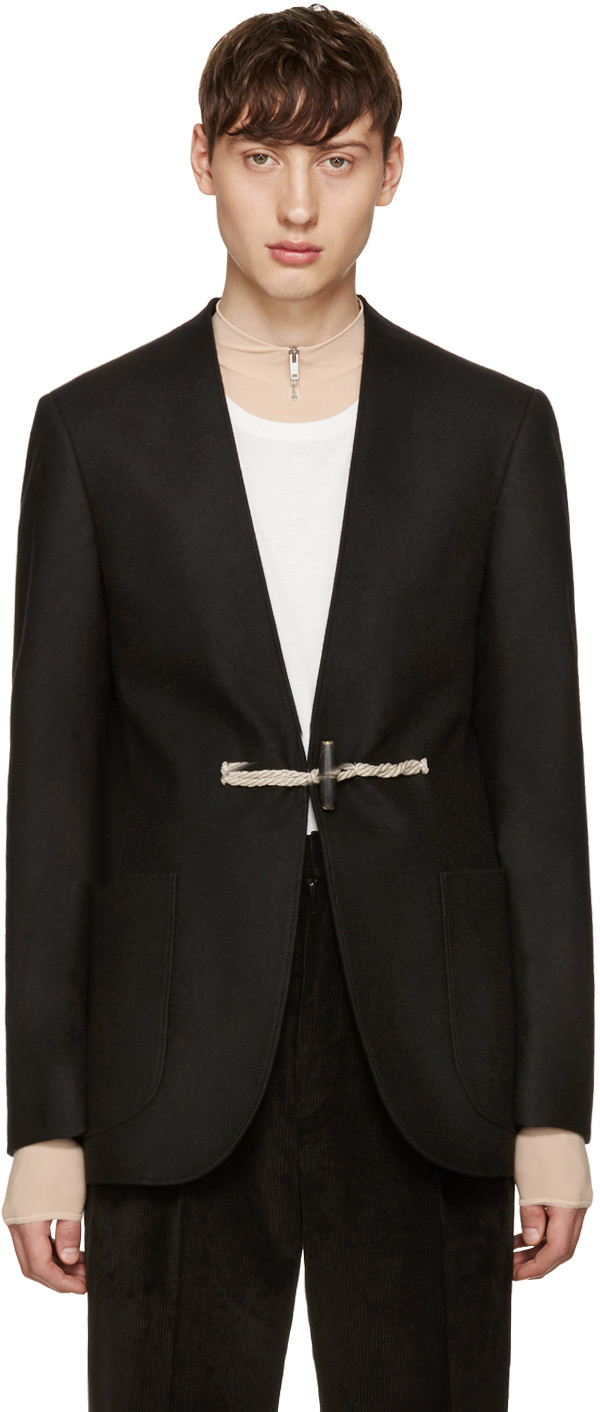 Maison Margiela Wools Black Wool Toga Blazer