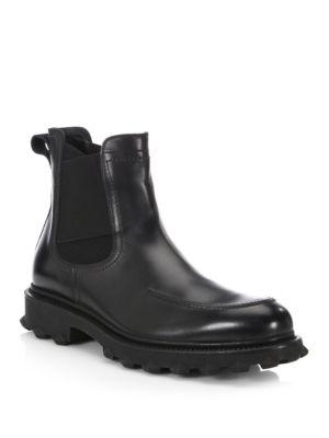 Salvatore Ferragamo Leathers Degas Thick Sol Chelsea Boots