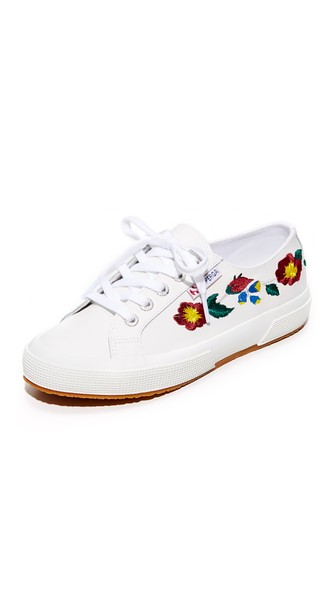 Superga Leathers 2750 LEATHER EMBROIDERY SNEAKERS