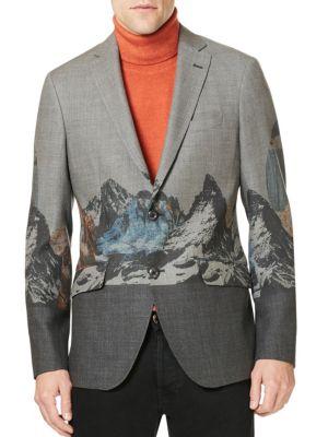Etro Wools Mountain Wool Sportcoat
