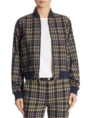 Polo Ralph Lauren Cottons Reversible Plaid Baseball Cotton Jacket