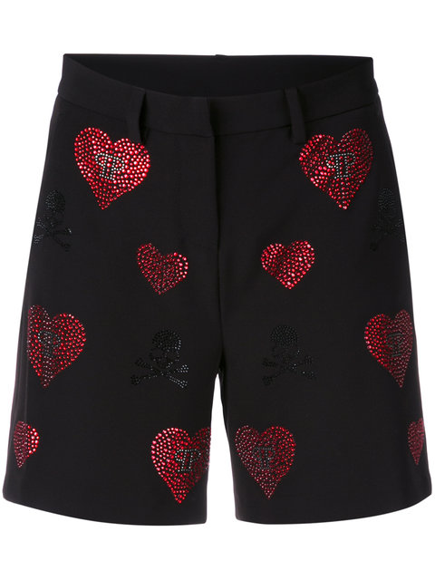 Philipp Plein Cottons Indi Lake shorts