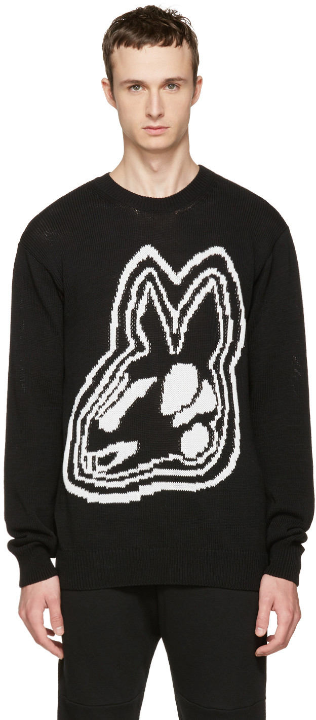 Mcq By Alexander Mcqueen Knits Black Intarsia Bunny Sweater