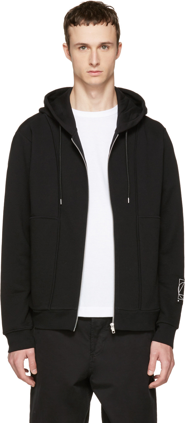 Mcq By Alexander Mcqueen Knits Black Inside Out Zip Hoodie