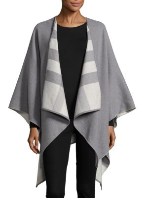 Burberry Linings Charlotte Reversible Check Wool Cape