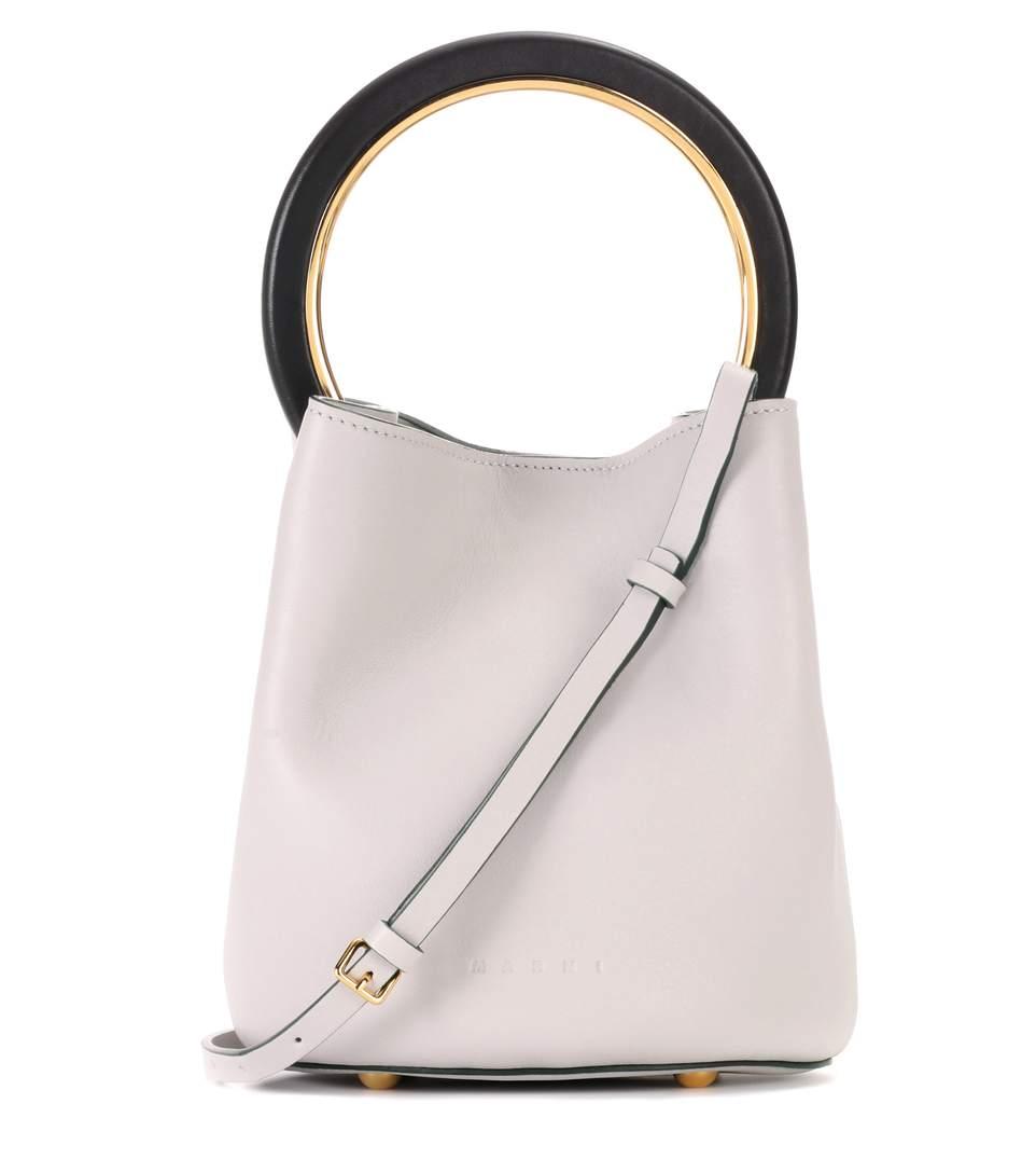 Marni Leathers Pannier leather bucket bag