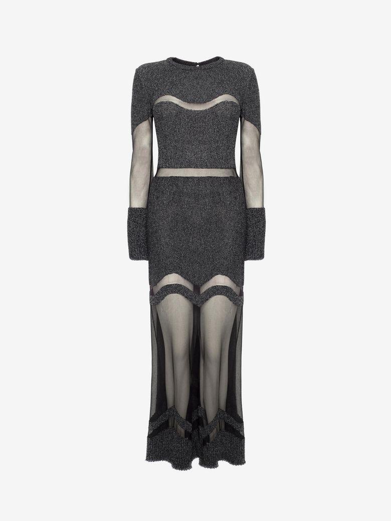 Alexander Mcqueen Wools BOUCLE KNIT LONG DRESS