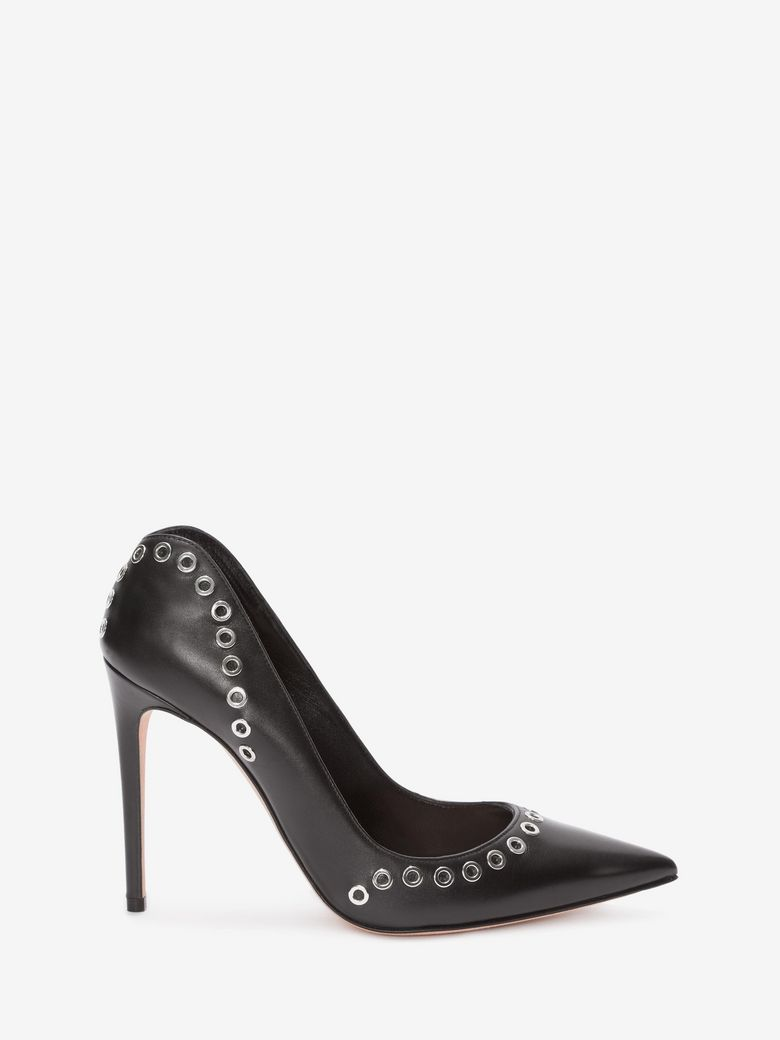 Alexander Mcqueen Leathers EYELET LEATHER PUMP