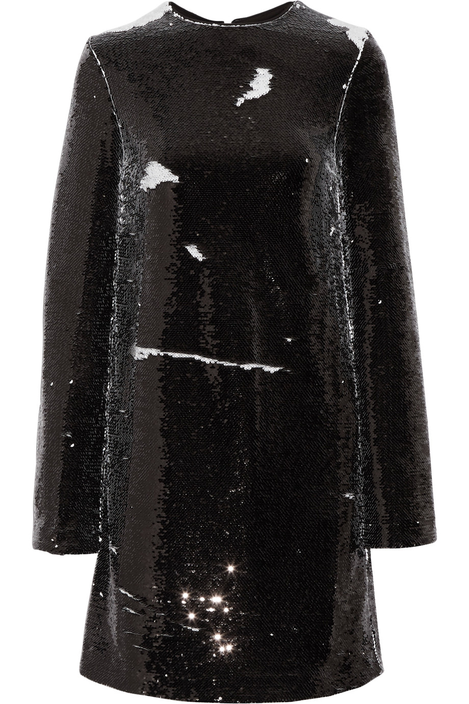 Msgm Linings Sequined crepe mini dress