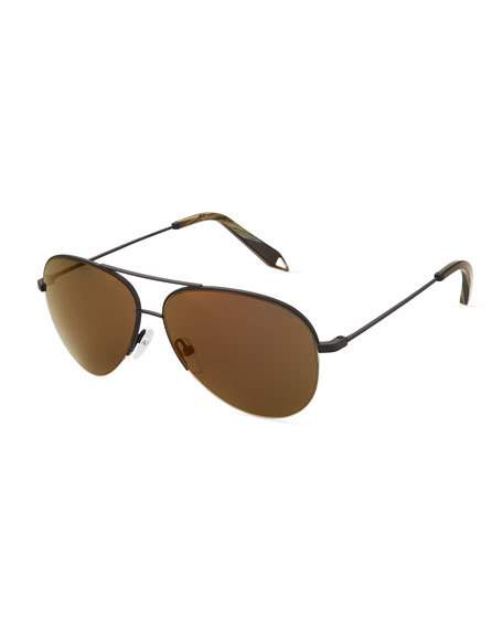 Victoria Beckham Sunglasses METAL AVIATOR SUNGLASSES, BRONZE