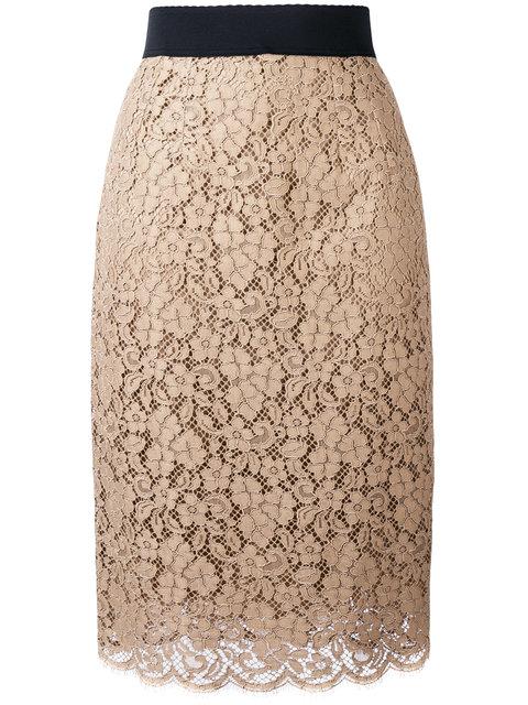 Dolce & Gabbana Downs lace skirt