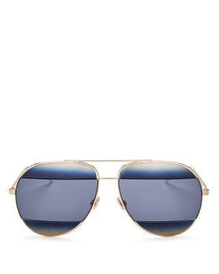 Dior Sunglasses Split Aviator Sunglasses, 59mm