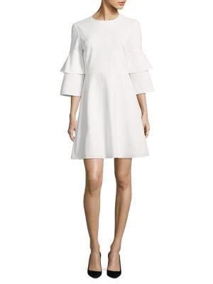 Tibi Dresses Crepe Bell A-Line Dress