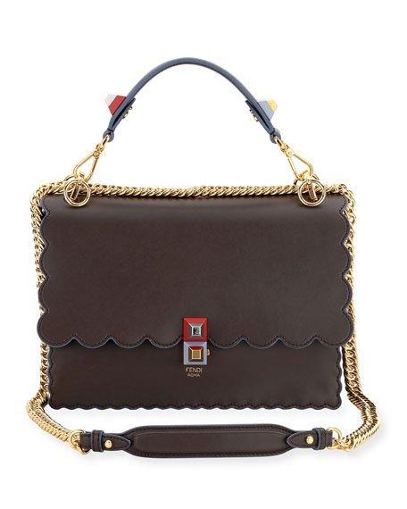 13b9a57d2 Fendi Kan I Black Leather Bag | Stanford Center for Opportunity ...