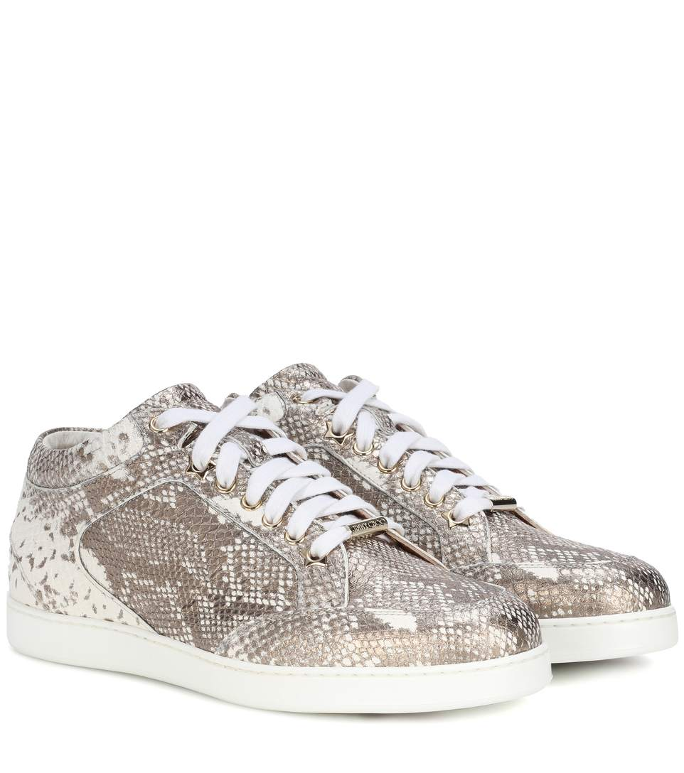 Jimmy Choo Leathers Miami leather sneakers