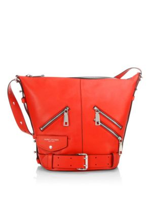 Marc Jacobs Leathers The Sling Motorcycle Convertible Leather Bag