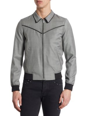 The Kooples Leathers Mixed Fabric Leather Jacket