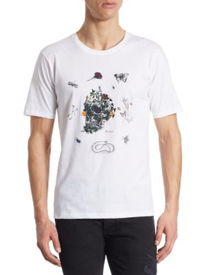 The Kooples Cottons Embroidered Skull Cotton T-Shirt