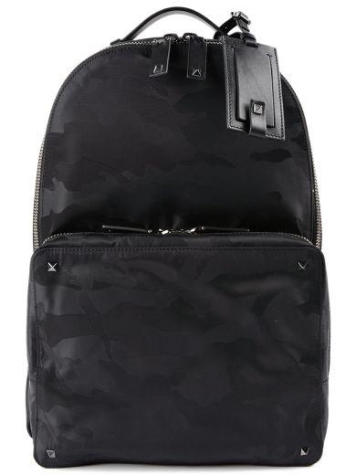 Valentino Leathers Valentino Garavani Camouflage Backpack
