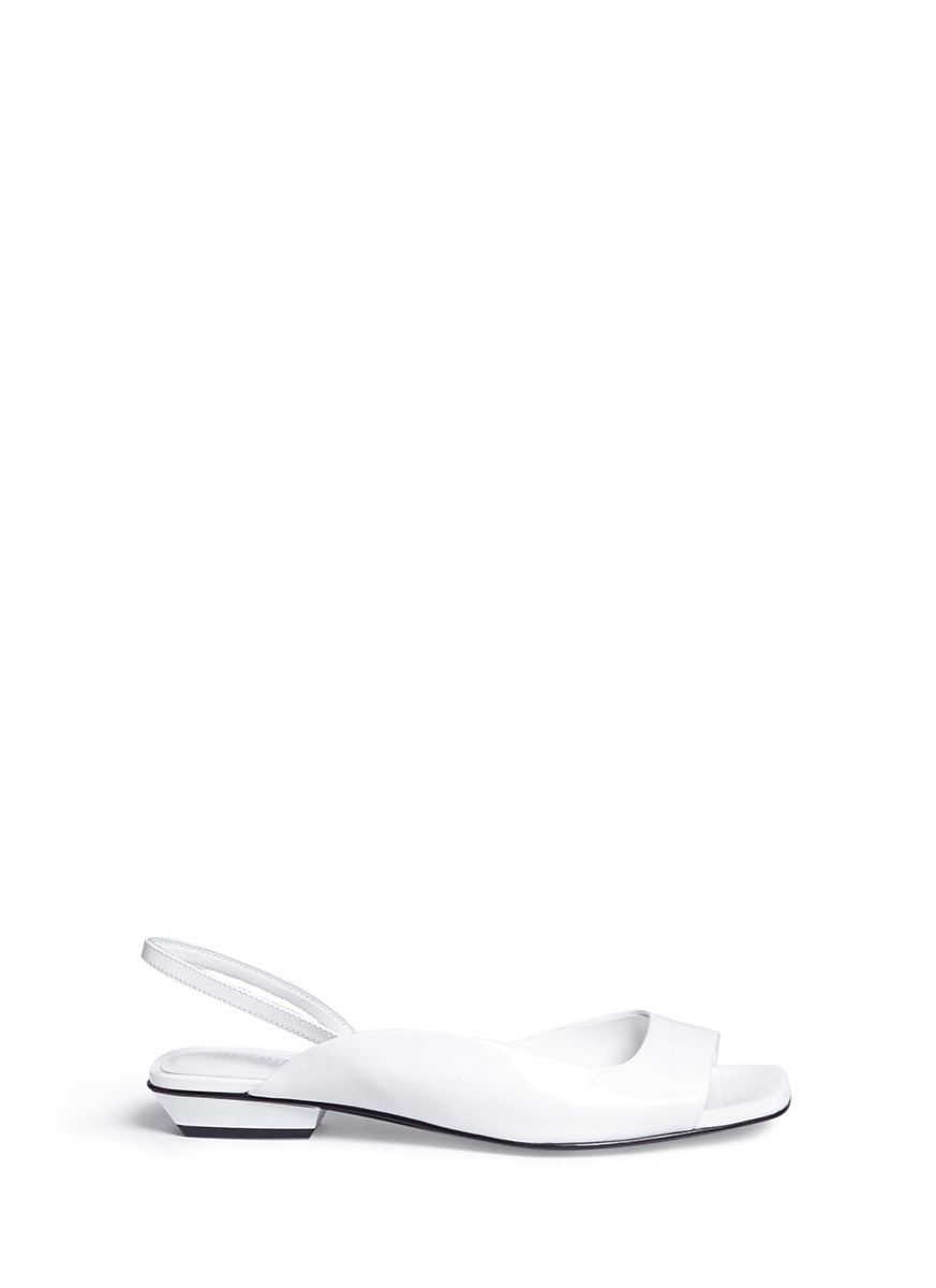 Opening Ceremony Leathers 'Elyna' semi d'Orsay patent leather slingback sandals
