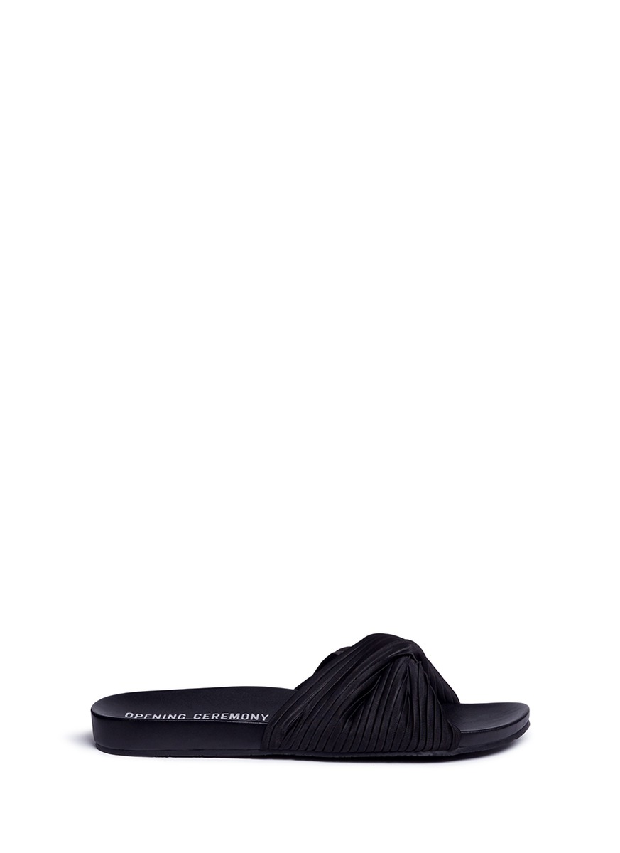 Opening Ceremony Leathers 'Paulyna' pleated twist band slide sandals