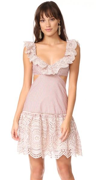 Zimmermann Cottons MERIDIAN STRIPE FRILL DRESS