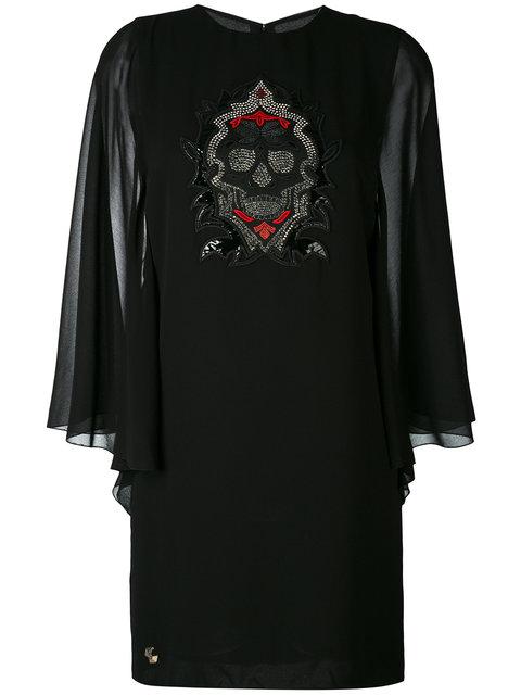 Philipp Plein Dresses skull appliqué dress