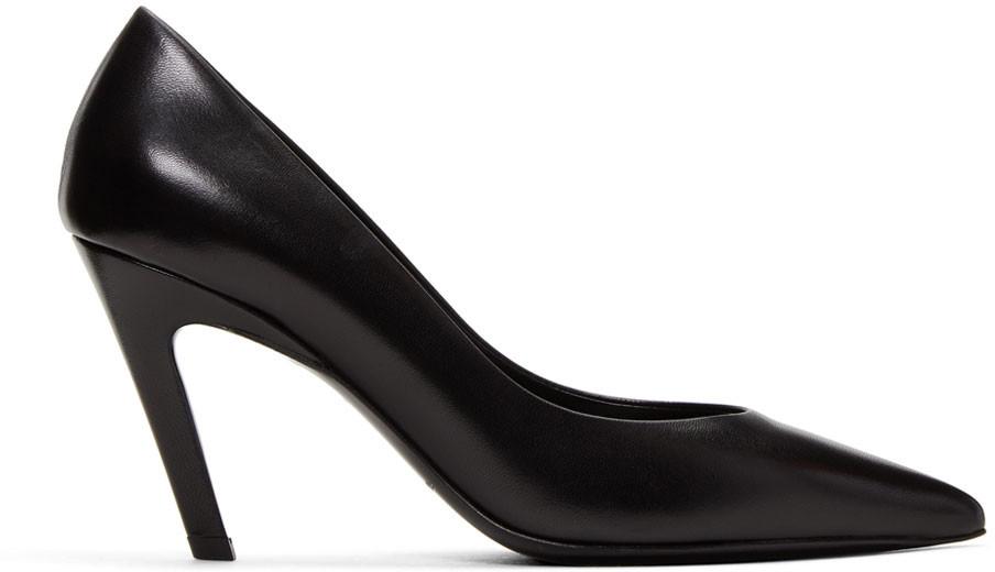 Balenciaga Leathers Black 'Slash Heel' Heels