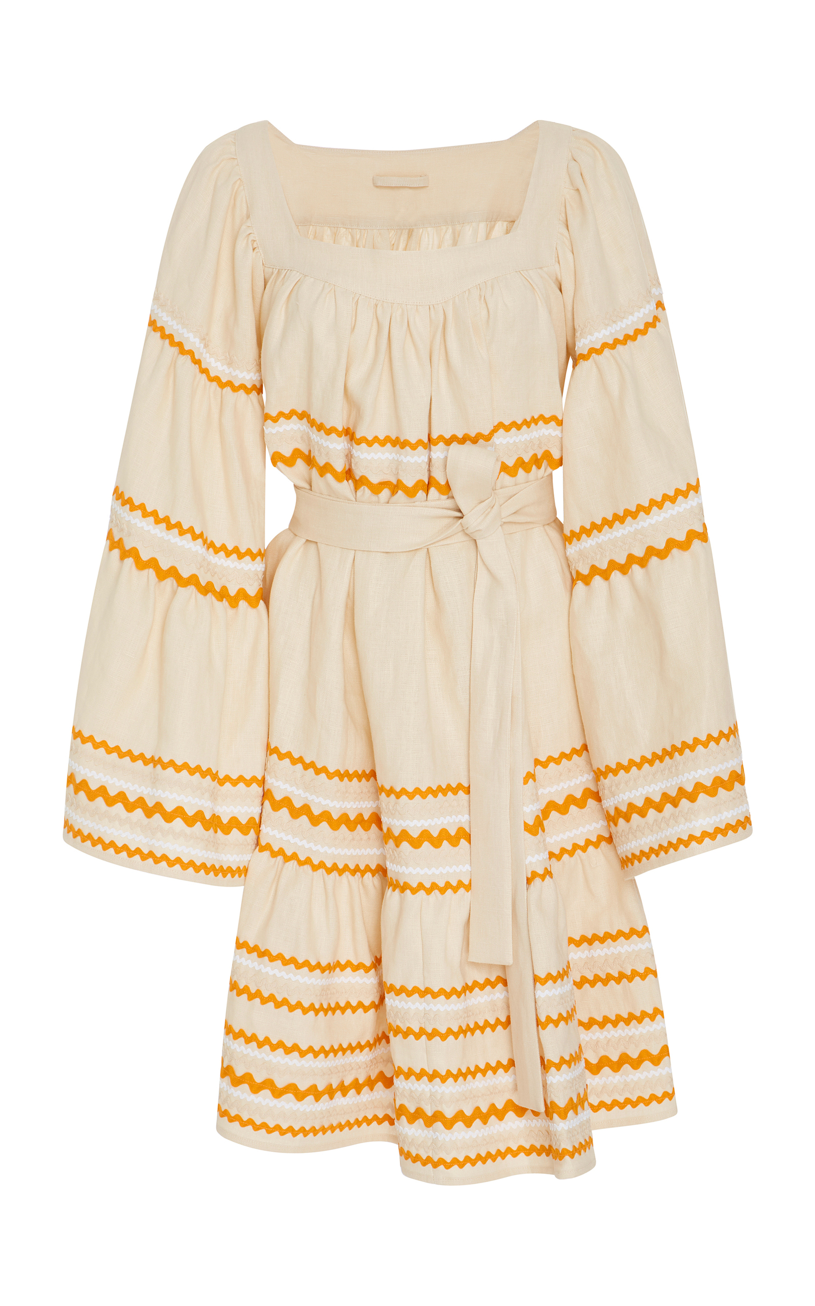 Lisa Marie Fernandez Linens Rick Rack-Trimmed Linen Mini Dress
